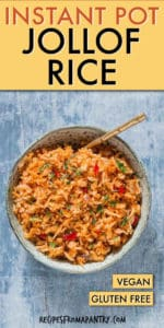 INSTANT POT JOLLOF RICE