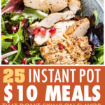 this is a pinterest pin linking to the instant pot $10 meals page.