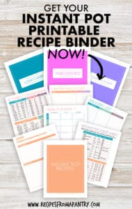Instant Pot Recipe Binder Printables