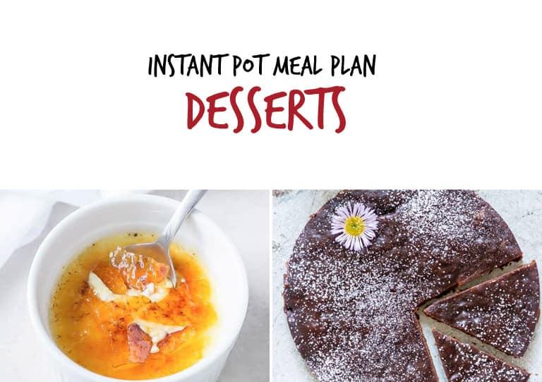 September Instant Pot Meal Plan Desserts
