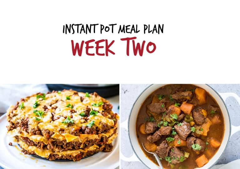 September Instant Pot Meal Plan week 2 main dishes