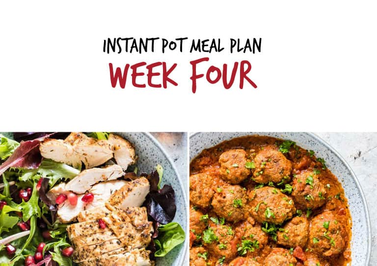 September Instant Pot Meal Plan week 4 main dishes