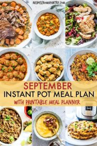 September Instant Pot Meal Plan