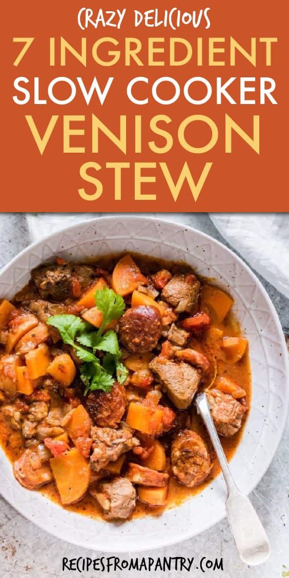 7 ingredient slow cooker venison stew