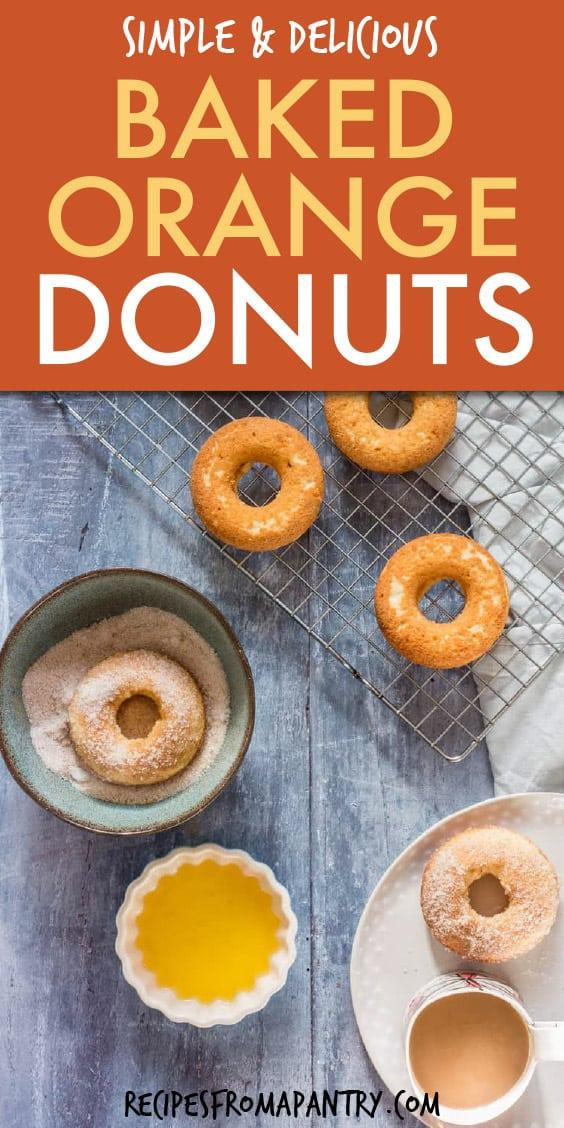 baked orange donuts