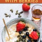 gluten free quinoa porridge