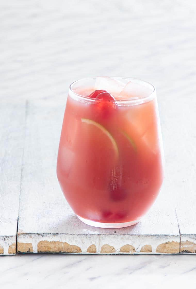 a glass of Jamaican punch