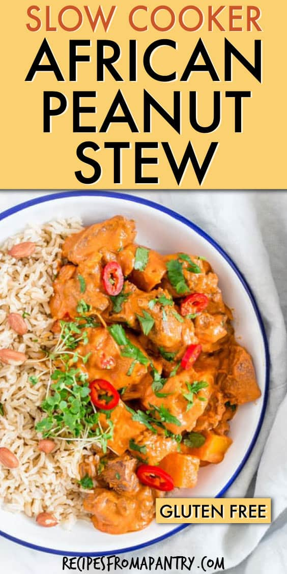 slow cooker african peanut butter stew