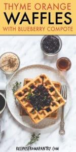 thyme orange waffles