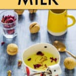 honey saffron milk