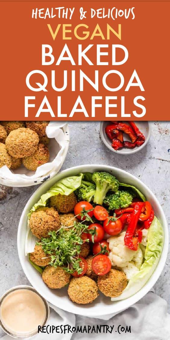 baked quinoa falafels