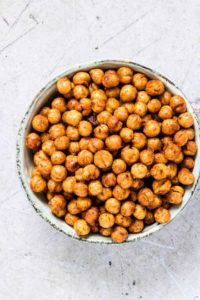 Close Up of Air Fryer Chickpeas