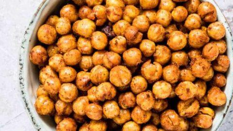 Crunchy Air Fryer Chickpeas + Oven Method And Tutorial {Gluten-Free, Vegan}