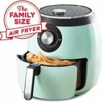 Dash DFAF455GBAQ01 Deluxe Electric Air Fryer + Oven Cooker 6 qt, Aqua