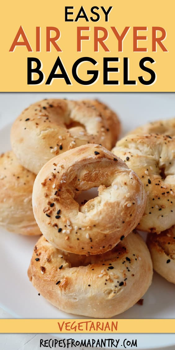 A stack of bagels