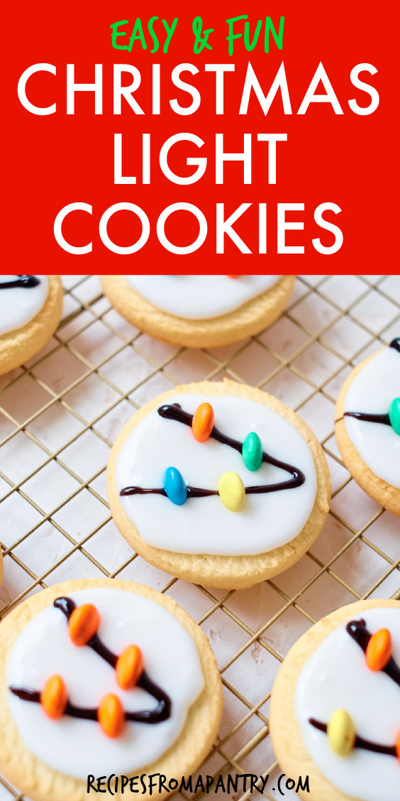 christmas light cookies on a cooling rack