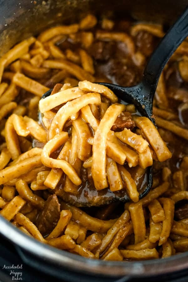 The Easiest Instant Pot Beef and Noodles