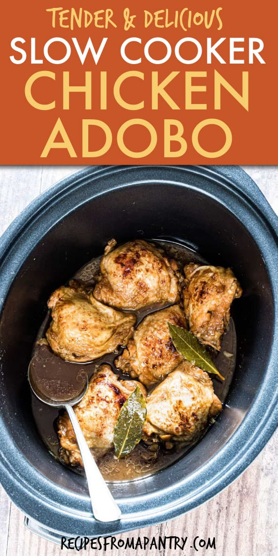 CHICKEN ADOBO IN A SLOW COOKER