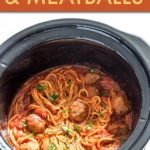 slow cooker spaghetti in the crockpot