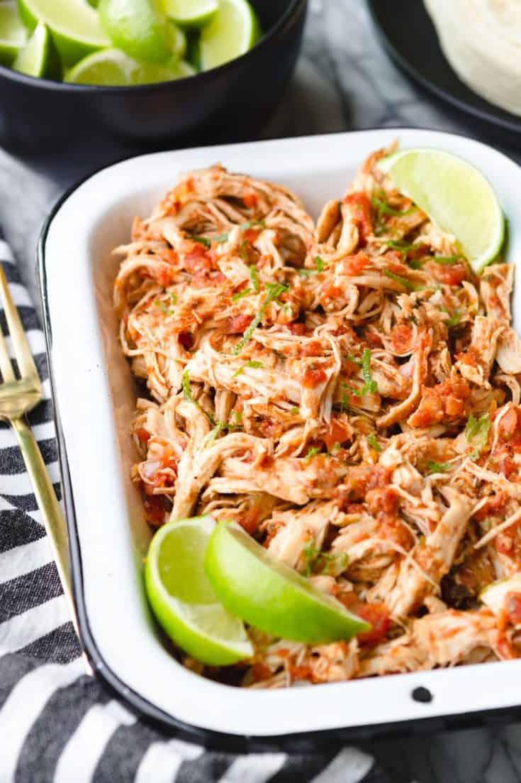 Shredded Instant Pot Salsa Chicken (4 Ingredients!) – Unsophisticook