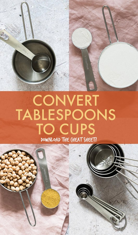 CONVERT TABLESPOONS TO CUPS