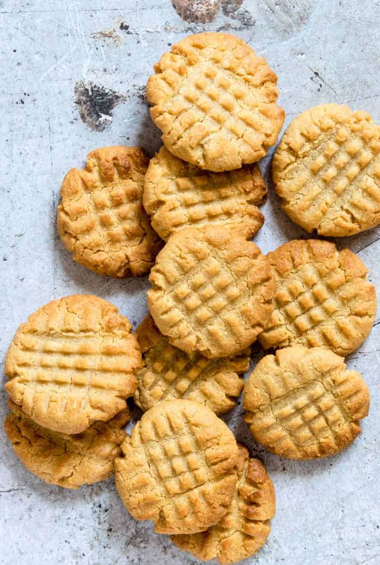 keto peanut butter cookies on a table