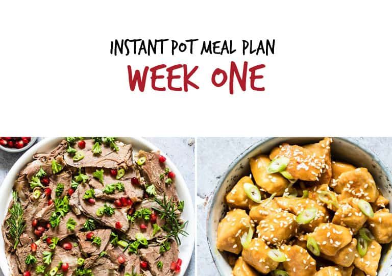 Instant Pot Meal Plan week 1 main dishes