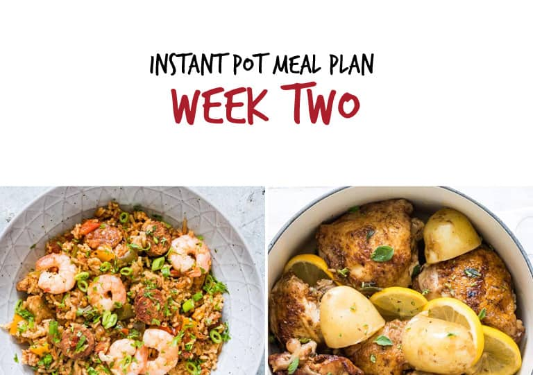 Instant Pot Meal Plan week 2 main dishes