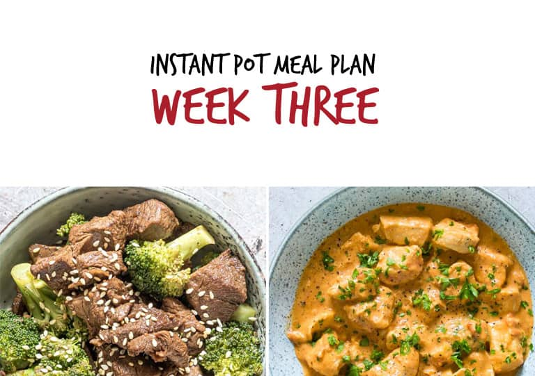 Instant Pot Meal Plan Week 3 Main Dishes