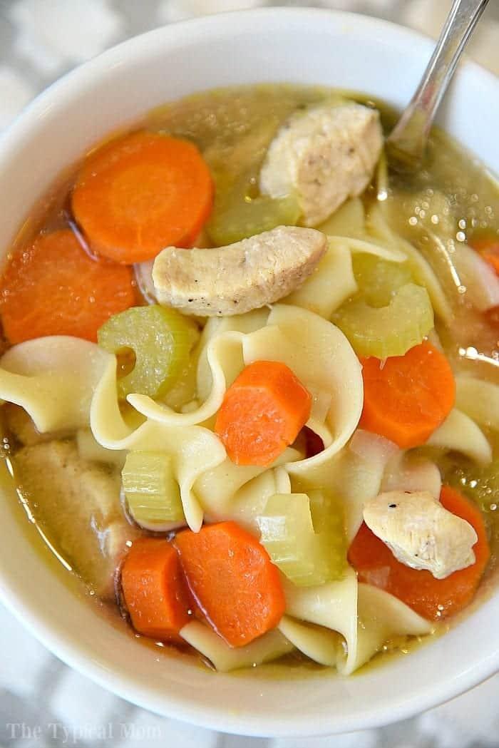 5 Minute Instant Pot Chicken Noodle Soup