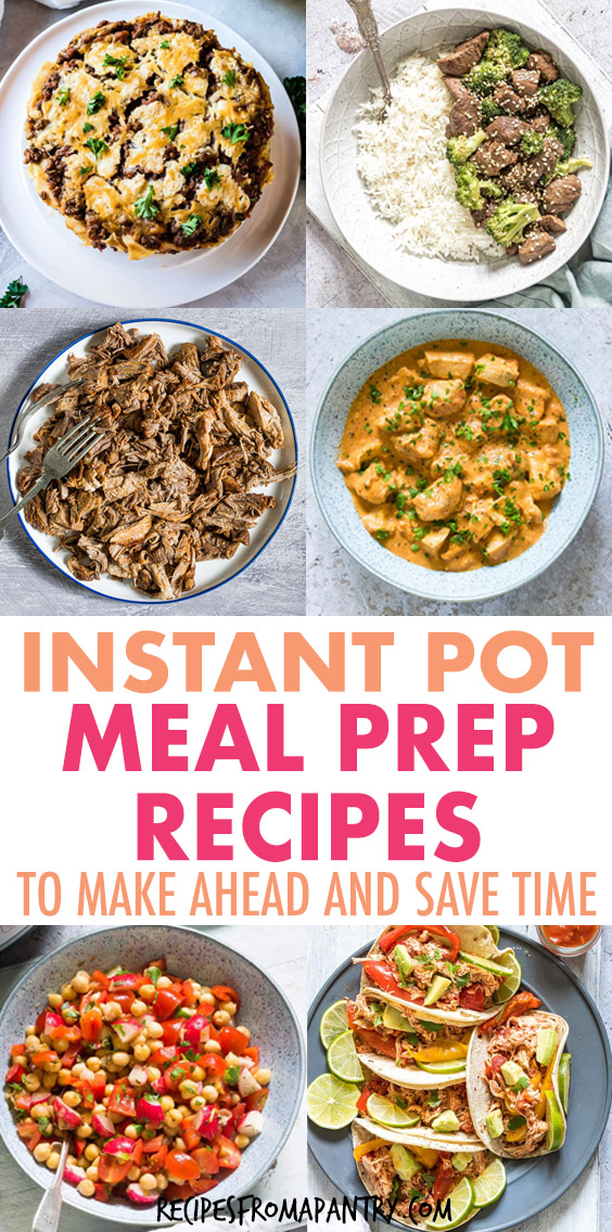 a collage of various instant pot dishes