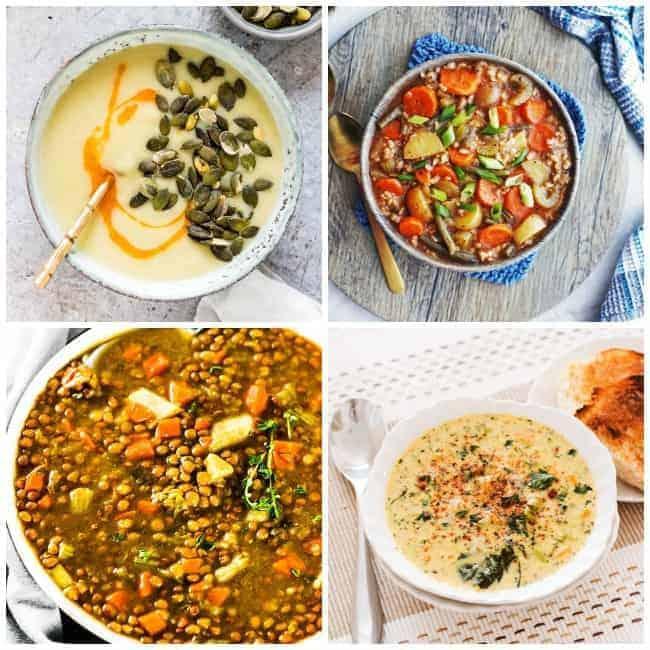 instant pot review with four separate instant pot soups including instant pot potato soup