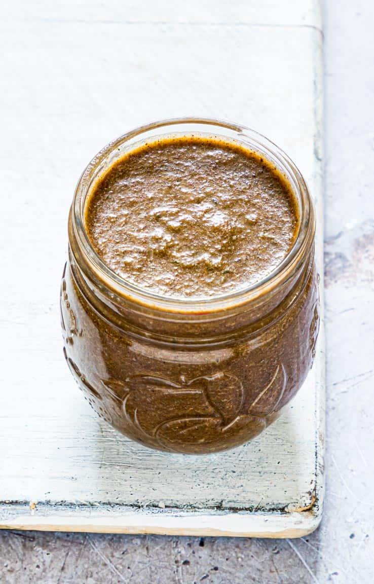 jar filled with Jamaican Jerk Sauce