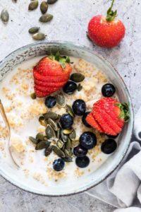 Quinoa Porridge with Berries {Gluten-Free}