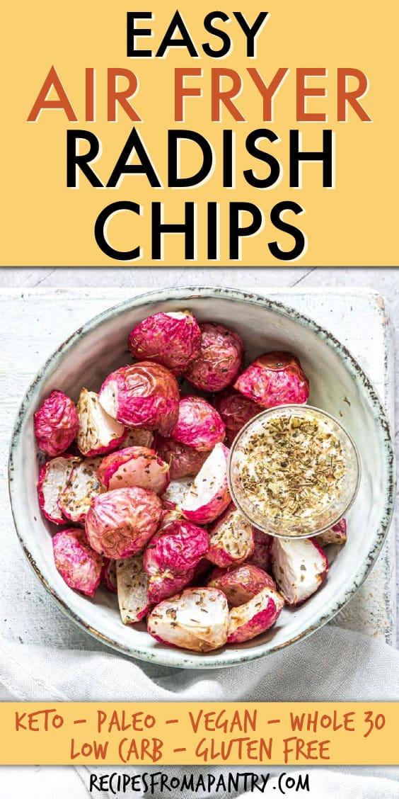 Air Fryer Radish Chips