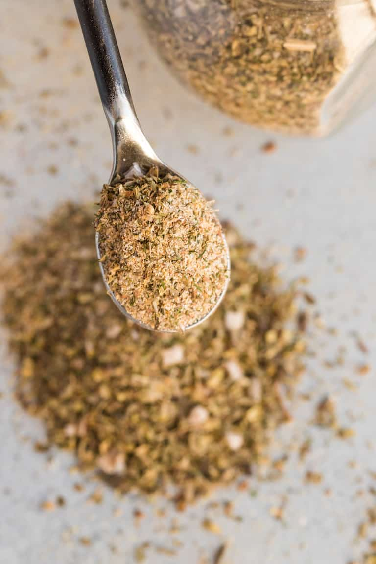 a spoonful of greek seasoning