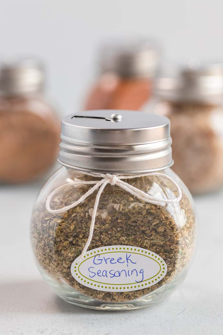 greek seasoning packaged as an edible gift