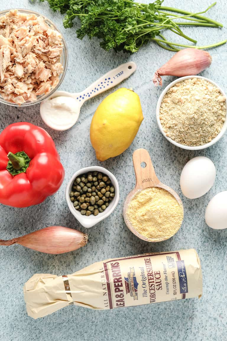 ingredients needed for making salmon croquettes