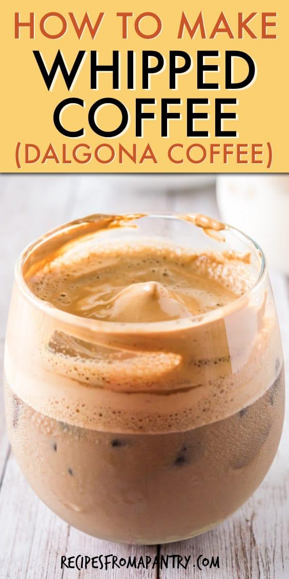 dalgona coffee mocha whipped coffee