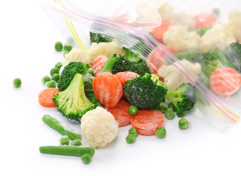 a bag of mixed vegetables ready to stock your freezer