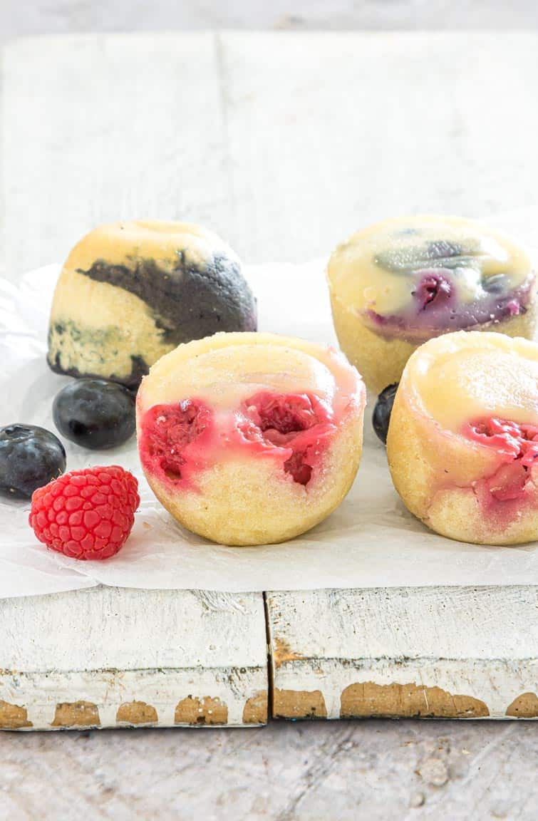 side view of the finished instant pot pancake bites