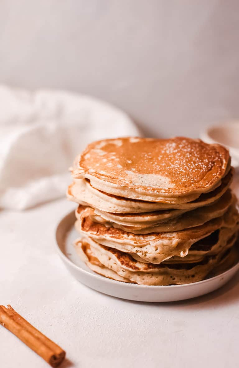 close up view of cooked buttermilk pancakes