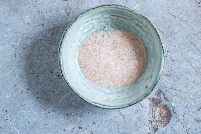 close up of pink himalayan salt