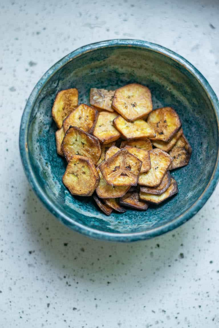 plantain chips served in a bowl