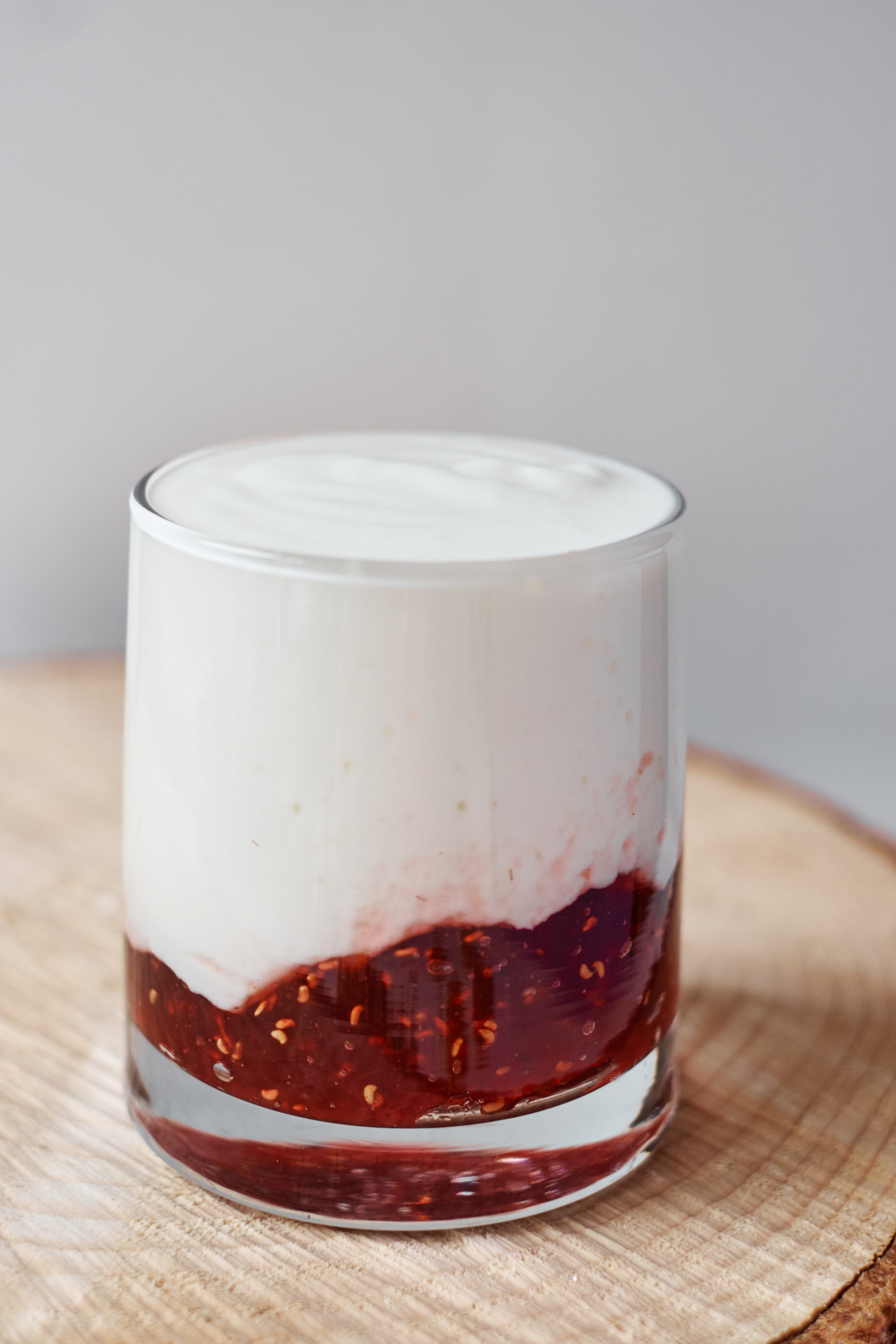 a serving of instant pot yogurt with strawberry jam