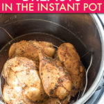 Chicken breasts inside an instant pot