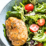 Instant pot chicken breast on a salad