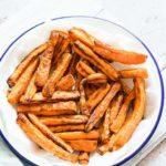 Air Fryer Cinnamon Maple Glazed Carrot Fries