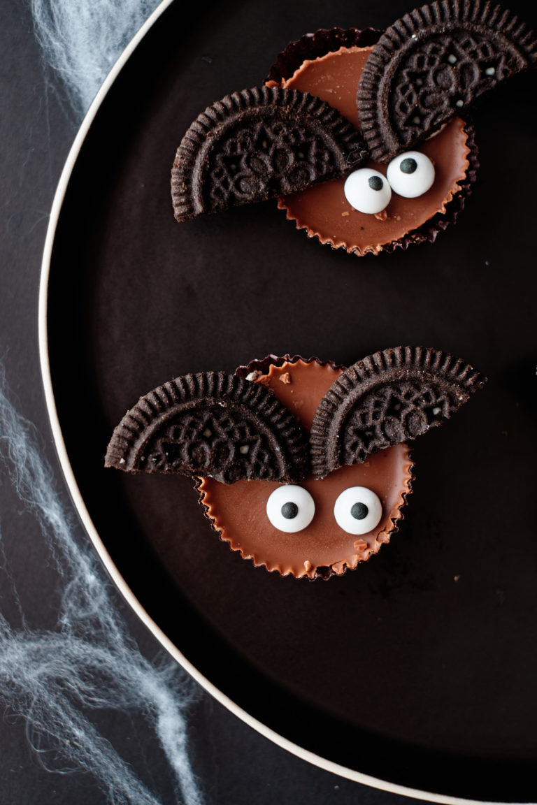 two of the halloween cookies