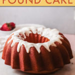a ring shaped pound cake with white icing